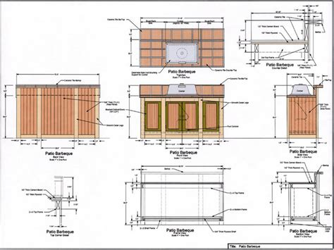 Plans For Kitchen Islands Outdoor Kitchen Floor Plans Bbq Island Plans Outdoor Bbq Kitchens Plans Kitchen Trends