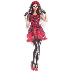 Day Of The Dead Halloween Costumes Sugar Skull Costume Dia De Los Muertos Day Of The Dead Halloween Fancy Dress Ebay