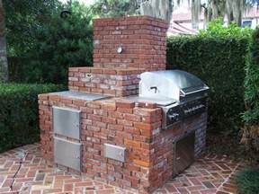 Backyard Brick Grill Custom Brick Outdoor Grill Winter Park Fl Grills Smokers Bbq Pits Winter