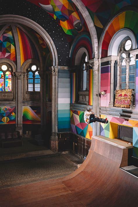 Kaos Lets Skate artist turns abandoned church into beautiful skate church