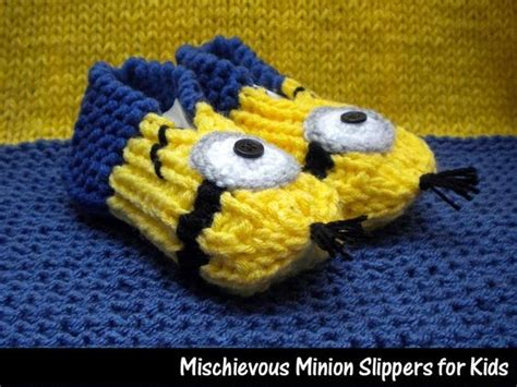 knitted minion slippers mischievous minion slippers for kid accessories