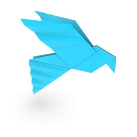 Paper Dove Origami - how to make origami bird