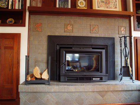 Tiles Fireplace by Custom Tile Fireplace Gawley Building And Remodeling Inc