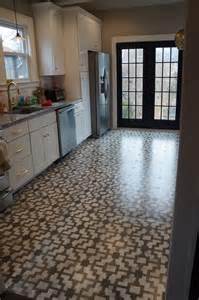Diy Kitchen Floor Ideas The Island Another Update Stencils Tile And Floor Stencil