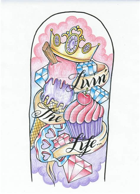 tattoo sleeve flash designs 24 best images about cupcake tattoos on