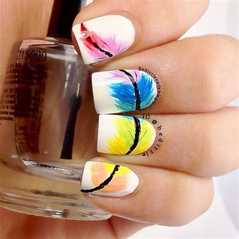 Different Design Styles Home Decor creative feather nail art designs 2017