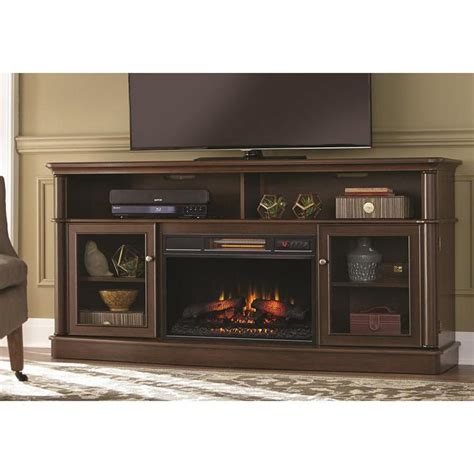 Front Electric Fireplace by Home Decorators Collection Tolleson 68 In Media Console