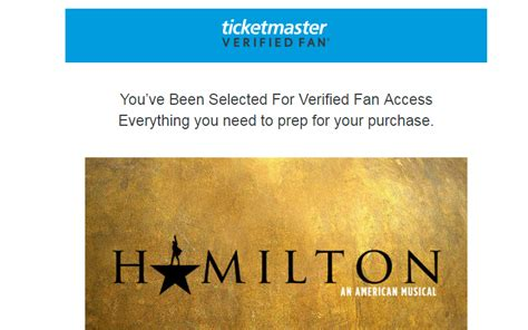 ticketmaster verified fan code hamilton seattle verified codes ticket master verified fans