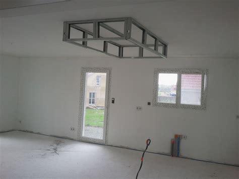 Ossature Placo Plafond by Bricolage De L Id 233 E 224 La R 233 Alisation Un Caisson