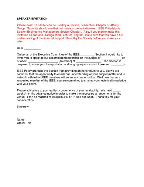 Sle Confirmation Letter To Keynote Speaker Best Photos Of Keynote Speaker Confirmation Letter Thank You Letter Guest Speaker Conference