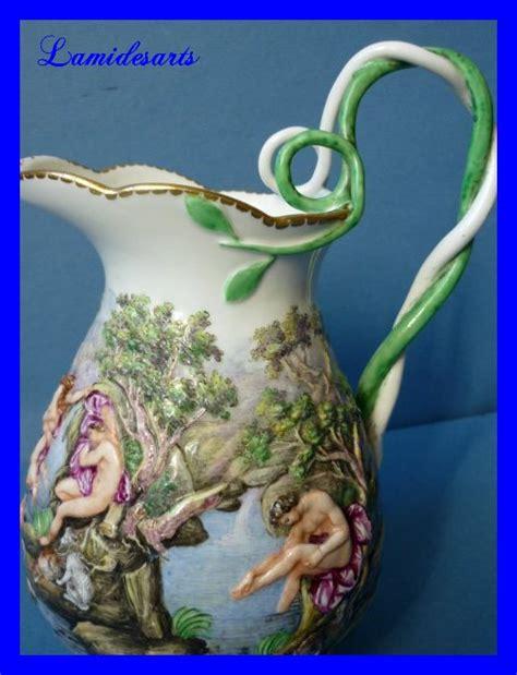 doccia manifattura ginori porcellane decorate doccia ginori capodimonte porcelain pitcher milk jug 1780