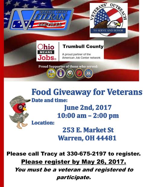Nutrition Giveaways - food giveaway for veterans veterans outreach