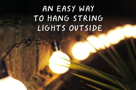 easy way to hang christmas lights on a christmas tree an easy way to hang string lights outside