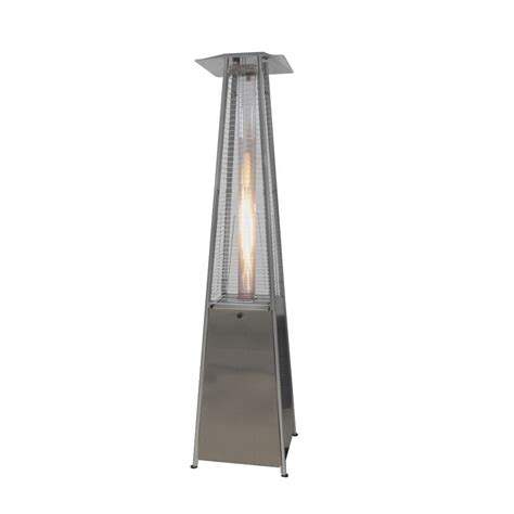 outdoor gas patio heater gardensun 40 000 btu stainless steel pyramid propane