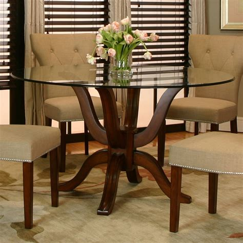 Round Glass Dining Room Sets Marceladick Com Dining Room Furniture Glass
