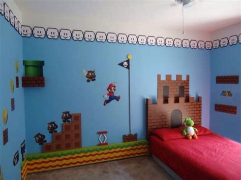 super mario bros theme bedroom theme room design