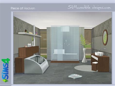 Piece of Heaven bathroom by SIMcredible! at TSR » Sims 4