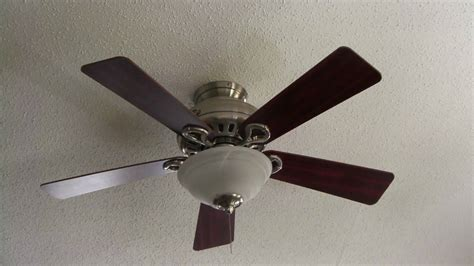 hunter fan part 85112 04 44 quot hunter stratford ii brushed nickel ceiling fan youtube