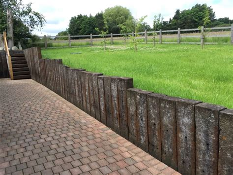 Retaining Wall With Sleepers by Retaining Wall With Azobe Railway Sleepers