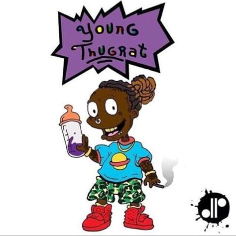 young thug cartoon young thug rugrats remix childhood ruiner