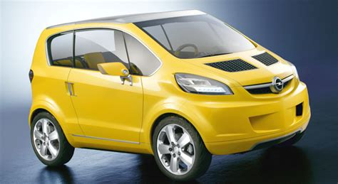 opel electric car opel planning electric city car based on trixx concept