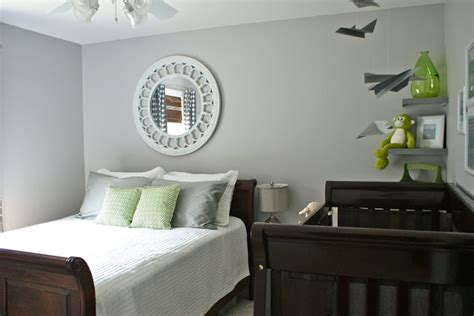 nursery guest room combo ideas guest room and nursery combined layout two cribs on right side of the room kiddo decor