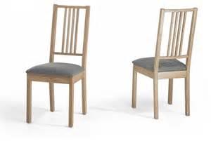 chaises de salle 224 manger lot de 2 chaises en bois et
