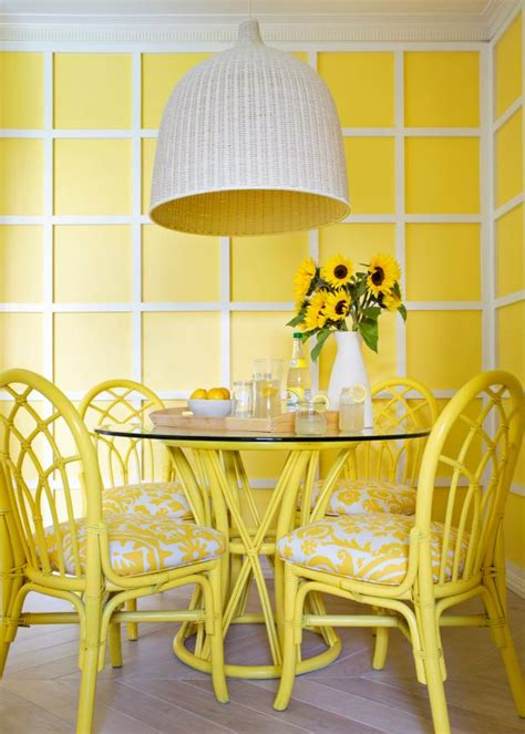 Yellow And White Dining Room by Photo Page Hgtv