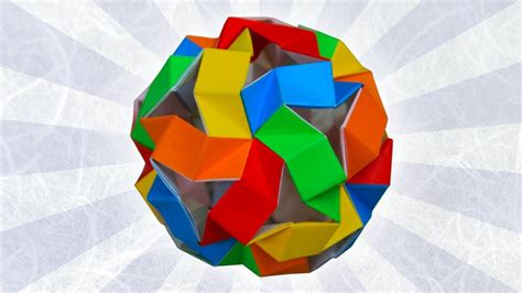 Hull Origami - origami bouncy unit icosahedron tom hull ez origami
