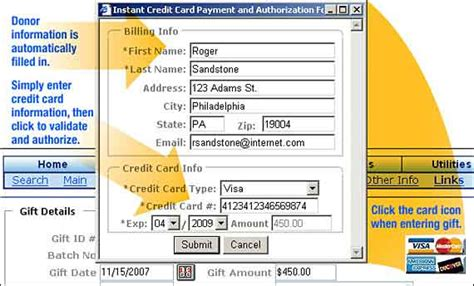 Credit In Form Credit Card Processing