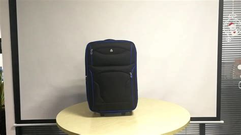 cheap wheeled cabin luggage cheap 20 inch airport polyester trolley luggage for