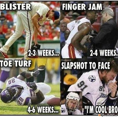 Sports Injury Meme - knee injuries quotes like success