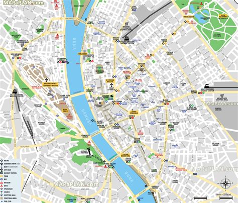 printable map budapest budapest tourist map top rated tourist attractions in