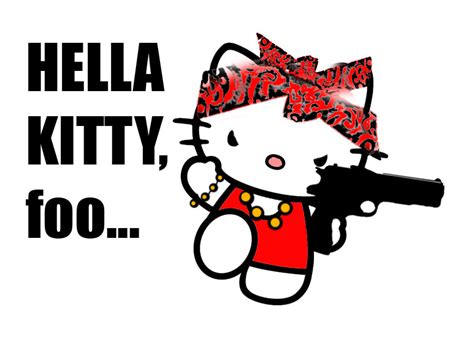 hello kitty gangster wallpaper hella kitty by ska17 on deviantart