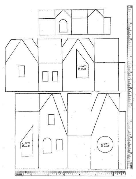 printable house design paper 187 best images about putz glitter house plans on