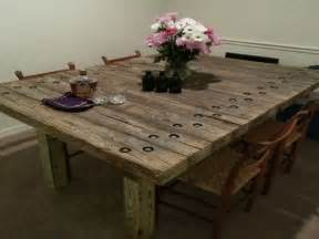 reclaimed wood dining room table marceladick
