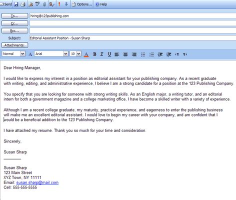 how to write email cover letter for resume how to email a resume and cover letter attachment