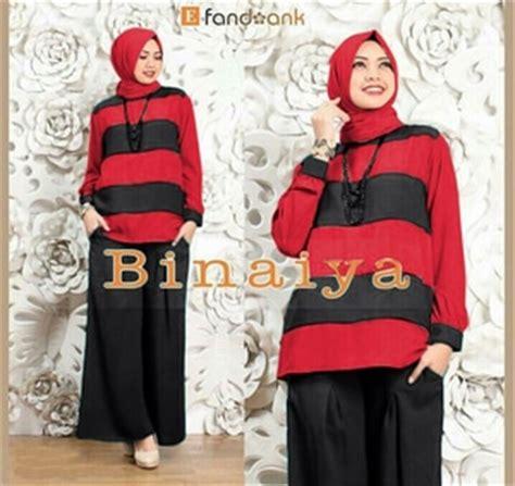 Celana Kulot Jersey Busana Muslim Baju Busana Baju Atasan Wanita Baj baju muslim wanita setelan celana kulot 3 in 1 modis