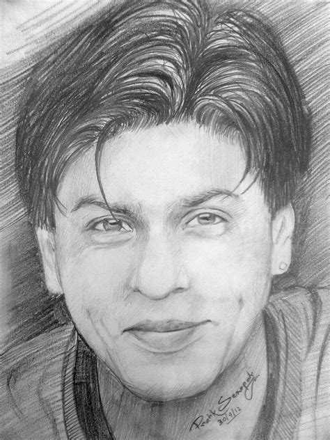 pencil drawing pencil sketch of shahrukh khan desipainters