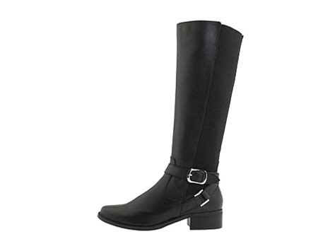 fitzwell boots fitzwell mentor wide calf boot black burnished leather