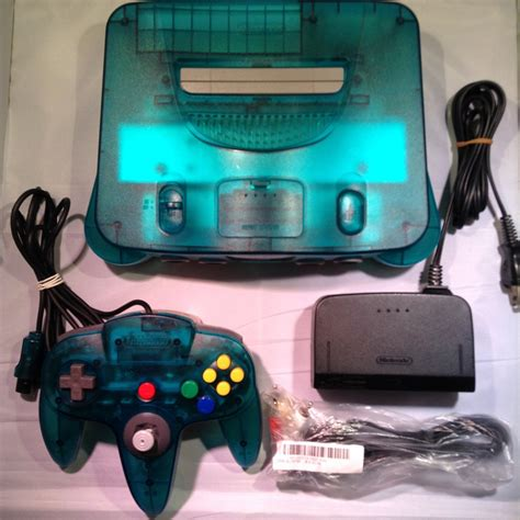console nintendo 64 nintendo 64 n64 console clear blue retroplayers