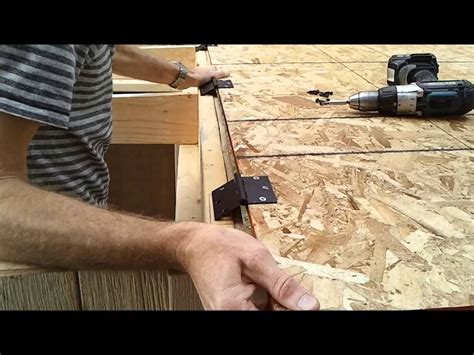 Installing Tin Roof On Shed by How To Build A Generator Enclosure Part 10 Installing Shed