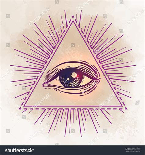eye providence masonic symbol all seeing stock vector