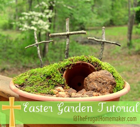 easter garden craft easter garden tutorial empty garden