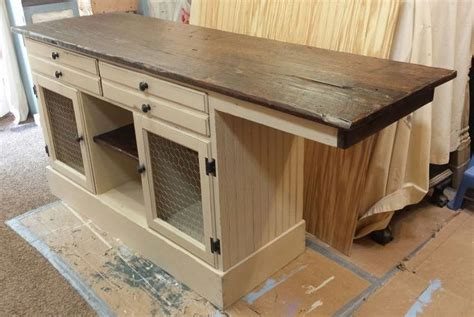 buffet kitchen island this buffet will be turned into a gorgeous barnwood top