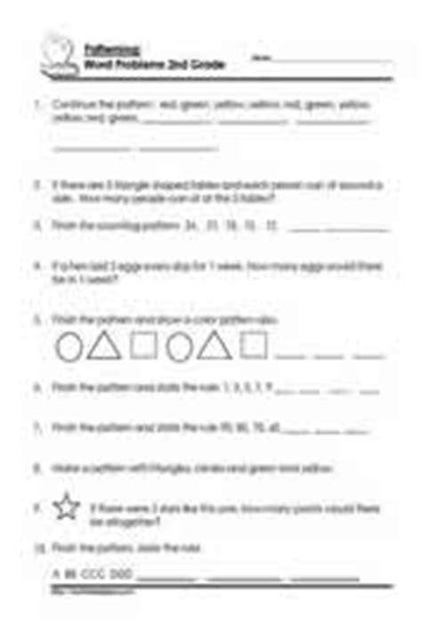 pattern math word problems grade 2 math patterning worksheets kids math patterns
