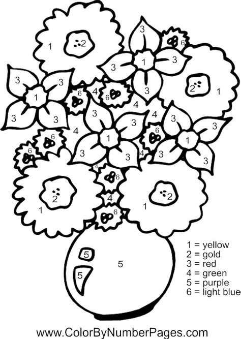 color by number flower coloring pages flower color by number pages
