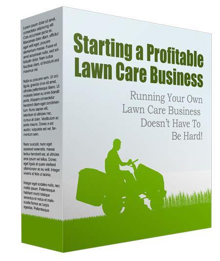 start lawn care business plr report gardening plr