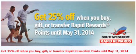 Can You Buy Points With A Southwest Gift Card - southwest buy gif transfer rapid rewards points promo 25 off april 24 may 31
