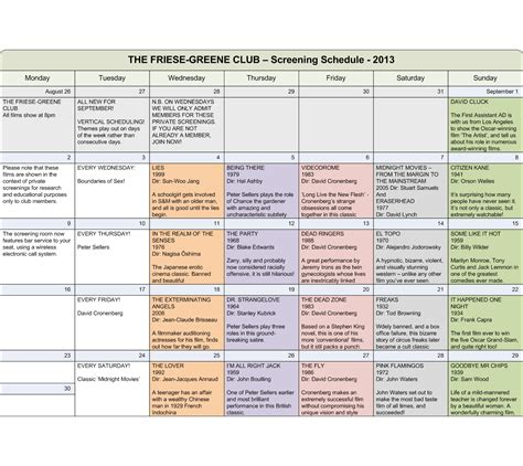 documentary production schedule template